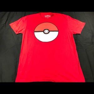 Pokémon poke ball shirt.